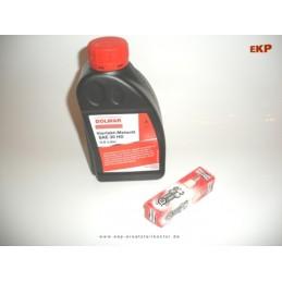 Motoroel SAE30 0,6 L &  Zündkerze für Rasenmäher