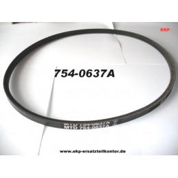 Keilriemen 754-0637A für MTD Rasenmäher SP53 GHW