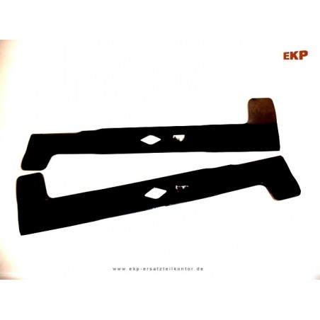 1 paar Messer für Rasentraktor 102 cm 1 x Messer links & rechts Zentralbohrung : rautenförmig