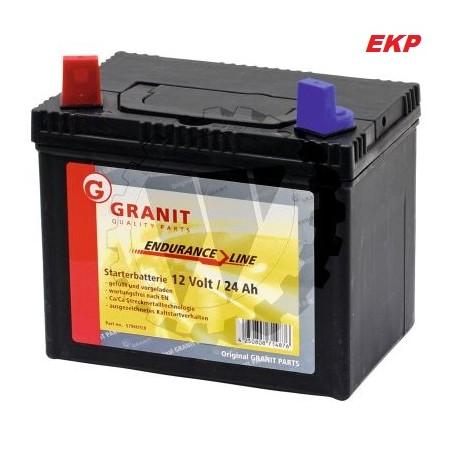 Batterie für Rasentraktor  wartungsfrei 12 Volt / 24 Ah - 260 A  Profiausführung