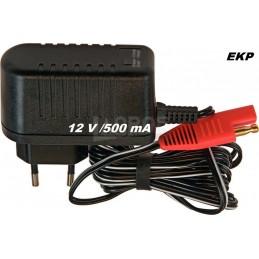 Ladegerät 12V - 500mA                                 für Rasenmäher Batterie